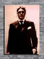 THE JAM - PAUL WELLER - Paint red canvas print - self adhesive poster - photo print